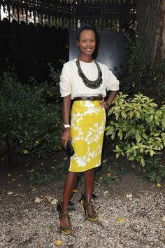 Shala Monroque in Prada - At Miu Miu Pret a Porter Show @ Paris Womenswear Fashion Week Spring/Summer 2010.  (October 2009)