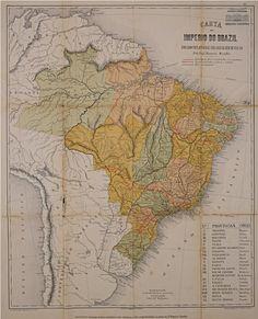 Carta do Império do Brasil indicando um plano geral para base da rede de viação, 1883. Arquivo Nacional. Fundo  Marcos Carneiro de Mendonça. BR_RJANRIO_U0_0_MAP_001.