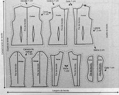 Corte e Costura Definido: Moldes Blazer Feminino