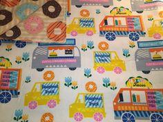 Large Baby Blanket, Swaddle, Donuts, Food Trucks, Multi Color, Fun Blanket, Breakfast, Receiving Blanket, Reversible, Baby Shower Gift, OOAK by QuinnsBin on Etsy https://www.etsy.com/listing/292073373/large-baby-blanket-swaddle-donuts-food