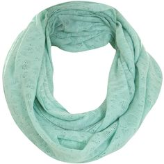 Mint Jersey Snood ($9) ❤ liked on Polyvore