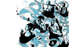 All That Jazz! illustration by Aleix Gordo by Aleix Gordo Hostau, via Flickr