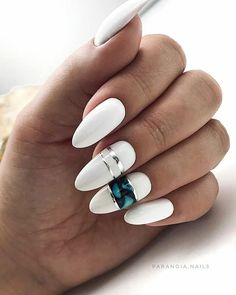 Beautiful Nail Art Ideas that Will Help You Have Amazing Nails Without Exhausting You Almond Acrylic Nails, Cute Acrylic Nails, Nail Swag, Chic Nails, Fun Nails, Gorgeous Nails, Pretty Nails, Uñas Fashion, Dream Nails