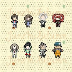 Zero Escape (9 Hours 9 Persons 9 Doors, 999) Inspired Perlers (Junpei, June…