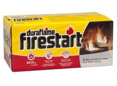 Duraflame 2444 Firestart Firelighters, 24-Pack. For product & price info go to:  https://all4hiking.com/products/duraflame-2444-firestart-firelighters-24-pack/