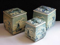 Vintage Verkade tins