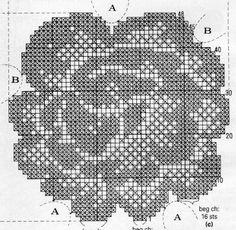 @nika Crochet Tablecloth Pattern, Crochet Motif, Crochet Doilies, Crochet Stitches, Knit Crochet, Crochet Patterns, Fillet Crochet, Chrochet, Cross Stitch Patterns