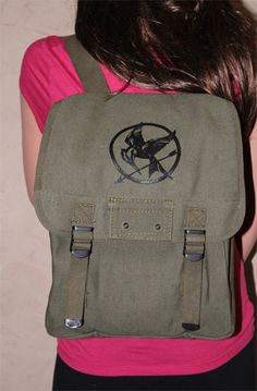 The Hunger Games Inspired Military Canvas Backpack