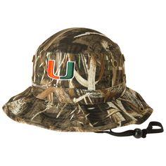 b7a07975a50 Men s Top of the World Realtree Camo Miami Hurricanes Boonie Max Bucket Hat