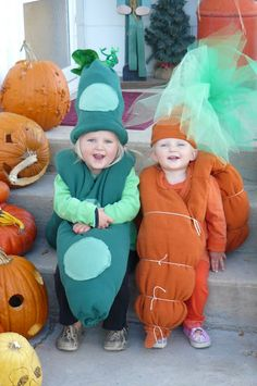 Pea and Carrot Costume