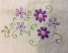 Supreme Best Stitches In Embroidery Ideas. Spectacular Best Stitches In Embroidery Ideas. Handkerchief Embroidery, Hand Embroidery Flowers, Hand Embroidery Tutorial, Embroidery On Clothes, Embroidery Patterns Free, Learn Embroidery, Hand Embroidery Designs, Ribbon Embroidery, Floral Embroidery