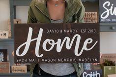 Wedding Gift For Blended Family Name Wood Sign | Custom Wedding Gift | Family Established Sign