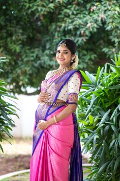 This Stunning Mom-to-be Is The Epitome of Perfection! Baby Shower Photography, Cute Kids Photography, Wedding Photography, Indian Photoshoot, Saree Photoshoot, Couple Pregnancy Photoshoot, Pregnancy Pics, Pregnancy Outfits, Indian Baby Showers