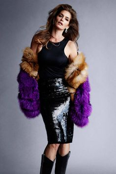Tom Ford coat, price upon request, skirt, $3,400, and boots, $1,990, 888-TOM-FORD; Scott Stevenson bodysuit, thescottstevenson.com; Harry Winston earrings, price upon request, 800-988-4110; Wolford tights, similar styles available at wolford.com; Hair: Shay Ashual; Makeup: Gemma Smith-Edhouse; Manicure: Mar y Soul.   - HarpersBAZAAR.com
