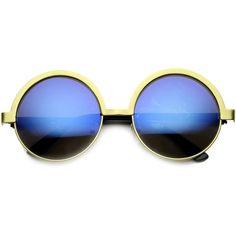 Fancy Retro Round Metal Women's Sunglasses 9813 ($11) ❤ liked on Polyvore featuring accessories, eyewear, sunglasses, round metal sunglasses, retro round sunglasses, retro round glasses, rounded glasses and round eyewear