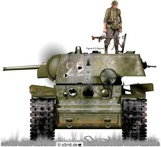 Engines of the Red Army in WW2 - KV-1 Model 1940 Heavy Tank