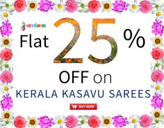 Flat 25% OFF on ‪#‎Kerala‬ Kasavu ‪#‎Saree‬. Shop Now: http://goo.gl/lhXMZa World wide shipping | Free shipping above $99 purchase