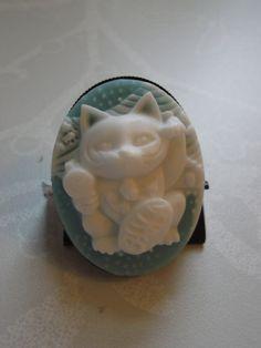 Blue Maneki Neko Lucky Cat Ring £5.00