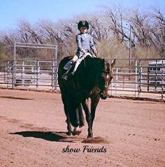 Sarah and Freddie, first quarter horse show