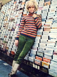 Sylvie Vartan, 1960s. LOVE this outfit.