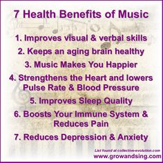 Did you know all the healthy benefits that music provides?? #musicquotes #musicfacts #kindermusik #growandsing #growandsingstudios #musichealth #musiceducation