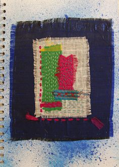 """I had great fun making the sari silk pieces then wondered what to do with them. My original idea was to create a textile book but this was rejected - each piece measured about 7"""" x 5"""" and if I had..."""