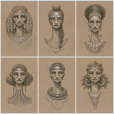Sundust by Toronto based artist Sarah Golish African Drawings, African Art, Black Women Art, Black Art, Afro Tattoo, Tattoo Art, Scene Hair Colors, Art Afro, African Tattoo