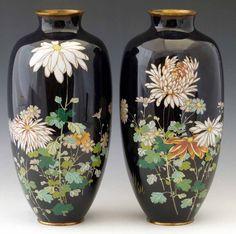 Japanese Cloisonné Vases