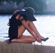 Hat and heels!