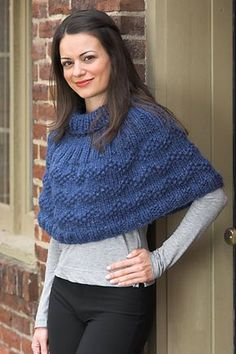 2390 Woman's Poncho pattern by Plymouth Yarn Design Studio Crochet Cape, Crochet Shirt, Knit Crochet, Crochet Vests, Crochet Motif, Plymouth Yarn, Shawl Patterns, Knitted Poncho, Knitted Shawls