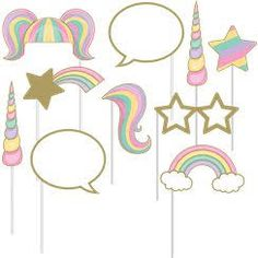 Image result for free printable unicorn photo booth props