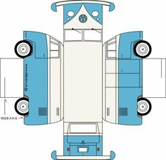 Bastelbogen VW Bus T1