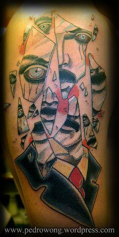 #pedrowong #perewong #pw #girona #tattoos #shattered #man