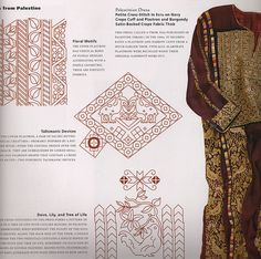 Describes some common motifs in Palestinian dress