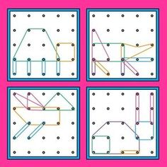 Geoboards Animals Task Cards by My Happy Place Visual Perceptual Activities, Toddler Activities, Preschool Activities, Math For Kids, Fun Math, Math Stations, Math Centers, Geo Board, Think Sheet