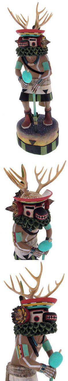 Hopi Deer Kachina Doll Carving by Artist Woody Sewemaenewa KS67147