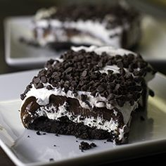 Chocolate Lasagna favorite desserts of all time  INGREDIENTS    1 package regular Oreo cookies (Not Double Stuff) – about 36 cookies  6 Tablespoon butter, melted  1- 8 ounce package cream cheese, softened