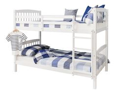 Bunk Bed Wooden Single White Pine Can be split into 2 singles Brighton: Amazon.co.uk: Kitchen & Home