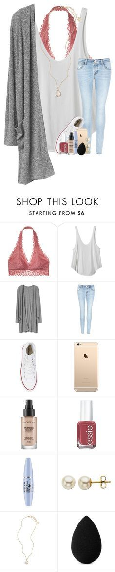 """happy valentine's day !"" by taylorvel ❤️ liked on Polyvore featuring Victoria's Secret, RVCA, J Brand, Converse, Smashbox, Essie, Maybelline, Lord & Taylor, Kendra Scott and beautyblender"