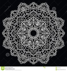 Free Mandala Patterns | ... handmade knitted doily. Round lace pattern. Vector illustration