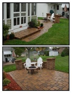 Patio Pavers  Seating Wall by valarie