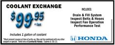 honda oil change coupon irvine