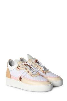 124e657092432c FILLING PIECES Sneakers in Beige Pink