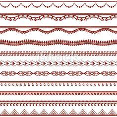 Mehndi Lines Royalty Free Stock Vector Art Illustration