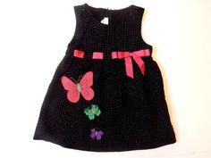 Toddler Girl's Bonnie Jean Black Polka Dot Corduroy Jumper Dress Pink Size 3T    eBay