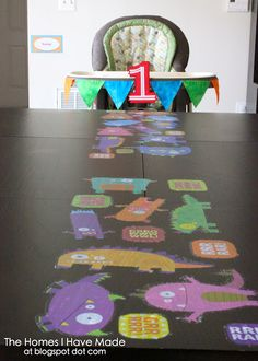 Well, this takes care of The Kid's party next month: monster party with lots of fun ideas