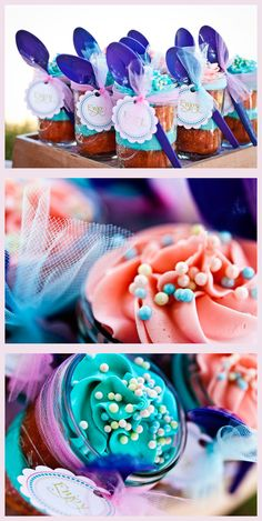 Cupcake Jars ~ Easier to carry to a party that is 'on location' elsewhere!  just frost, pop on the lid and you're ready to go!