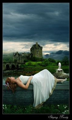 Sleeping Beauty- when I go to scotland i am taking a picture like this of myself.