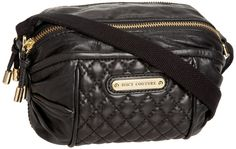 Juicy Couture Pacific Avenue Barrel Bag Handbag Purse Black Leather Quilted NEW 098689072753 | eBay