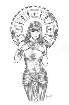 Egyptian Handmaiden by MitchFoust.deviantart.com on @DeviantArt
